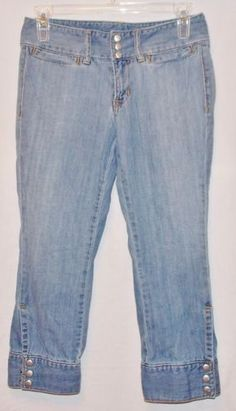 Gap Ultra Low Rise Cropped Size 0 R Women's Jeans Capris Shorts Decorated Snaps | eBay