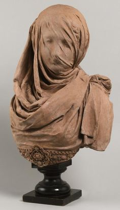 Veiled Woman, after 1868 by Albert-Ernest Carrier-Belleuse French, 1824-1887