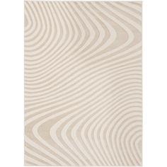 Loft Modern Wavy Stripe Cream Rug (5'3 x 7'4)