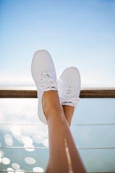 Plain White Keds. So crispy clean :)