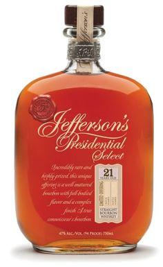 JEFFERSON'S Presidential 21 Year Kentucky Straight Bourbon 750ml (Kentucky, USA)