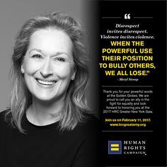 Meryl Streep Human Rights Campaign