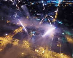 Aerial of Fireworks at ACD Festival 2015
