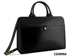Domska torebka ze skóry w kolorze czarnym / Więcej na www.elfrika.pl