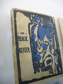 Der Blaue Reiter (1912) Almanach Le Cavalier bleu. La couverture est une gravure de Vassily Kandinsky.