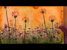 ▶ Art Journaling, Gesso techniques & Colouring with Tim Holtz/Ranger products - YouTube