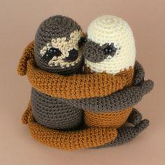 Sloth crochet patterns by PlanetJune