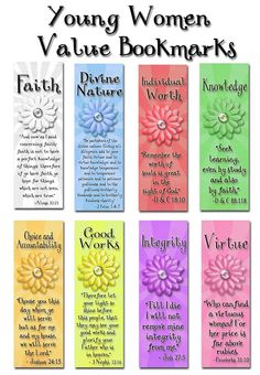 Young Women Value Bookmarks
