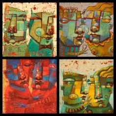Four Couples by Brenda York, painting by artist Brenda York