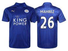 Leicester City #26 Riyad Mahrez 2016-17 Home Short Shirt