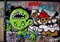 Graffiti Street Art - IJplein, Amsterdam