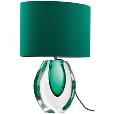 Emerald Green Perfume Bottle Lamp ❤ liked on Polyvore