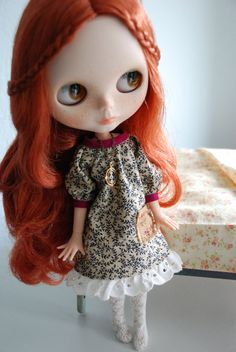 Cottage Dress for Blythe by smalltownsarah on Etsy, $25.00