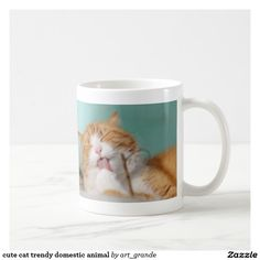 cute cat trendy domestic animal coffee mug