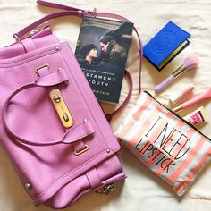Instagram media bunnipunch - In my #bag today.... #blog #blogger #coach #forever21 #fashion #fashionblogger #fashionblog #mystyle #style #styleblog #flatlay #lookoftheday #picoftheday #pastels #makeup #beauty #book #reading #travel #tblogger #lblogger #inspiration #instatravel #instafashion #insidemybag #pastels #pink