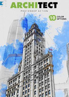 Architect Photoshop Action (10 color options)