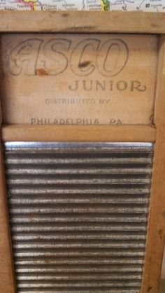 Vintage Asco Junior Washboard