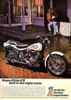 """1971 Harley Davidson Motorcycle Ad """"Super Glide FX"""""""