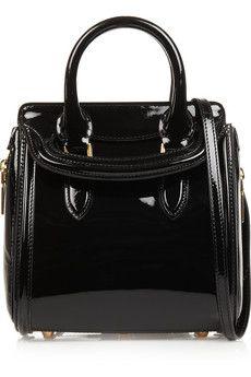 Alexander McQueen The Heroine mini patent-leather shoulder bag