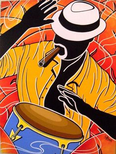"""Afro-Cuban Salsa"" Sampler iOS App released by Alive Drumming – Song Rhythm Tracks Cuban Salsa, Cuba Art, Colombian Art, Latino Art, Caribbean Art, Jazz Art, Original Paintings For Sale, Africa Art, Salsa Dancing"