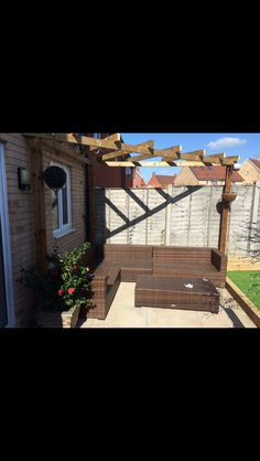 Bespoke pergola  Www.reviveandsanitise.co.uk Garden Makeover, Bespoke, Pergola, Patio, Outdoor Decor, Home Decor, Taylormade, Homemade Home Decor, Yard