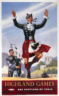 'Highland Games', BR (ScR) poster, 1948-1965., Cattermole, Lance jul16