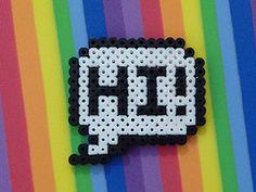 Hello - hama perler beads