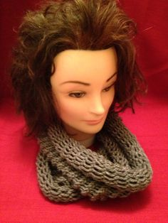 Grey Infinity Scarf $20.00, Available to order please email homemadehatsandmore@gmail.com or go to my Facebook page Homemade Hats and More By Kalli