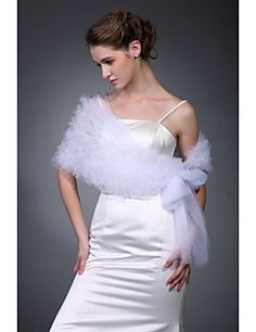 Tulle Wedding/ Party/ Evening Shawl More Colors Available – USD $ 22.99