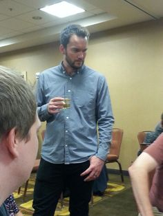 Gareth David Lloyd at FandomFest Dinner with the Stars. 8 August, 2015. No, I didn't use the zoom. Yes, I was this close! :)