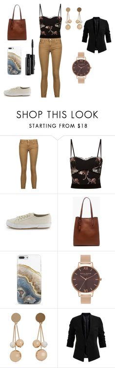 """Untitled #32"" by s-a-r-a-h92 on Polyvore featuring IRO, La Perla, J.Crew, Nanette Lepore, Olivia Burton, MANGO and MAC Cosmetics"
