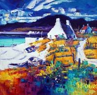 Resting boats, Ardnamurchan Colorbox, Vibrant Colors, Colours, Oil On Canvas, Boats, Landscape, Gallery, Painting, Art