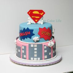 Girl Superhero cake