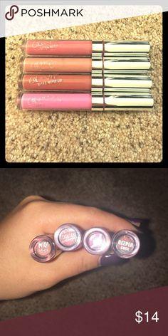ColourPop lip sticks. Four ColourPop liquid lipsticks. 3 matte and 1 gloss. Thougful, Midi, Beeper & Clueless Colourpop Makeup Lipstick