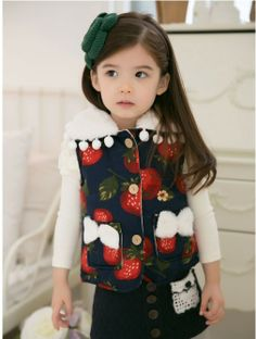 Autumn winter fashion Faux Fur vest children girls outwear waistcoat Fashion cartoon vest $35.65