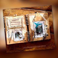"""15 tykkäystä, 0 kommenttia - LENA BLANKENSTEIN-HOLMSTRÖM (@lena_blankenstein_holmstrom) Instagramissa: """"Art journal @itdcollection #paperipaja #paperipaja21 #etäpaperipaja #paperipajazoom…"""" My Darling, Journal, Fall, Instagram, Home Decor, Autumn, Decoration Home, Fall Season, Room Decor"""