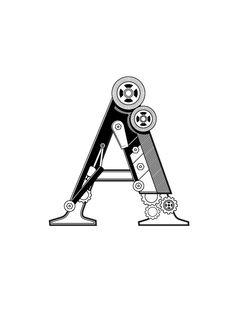 Mechanical Font by Matt Gibson
