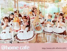 Maid-Café @home cafe in Akihabara Electric Town, Tokyo