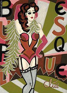 Jacqueline Ditt - Burlesque Theatre (Possen Theater) - universal arts Galerie Studio - Grafik Druck Kunstdruck nach Gemälde universal arts Galerie Studio edition http://www.amazon.de/dp/B00N1ZELWO/ref=cm_sw_r_pi_dp_FV6qwb0P660GX