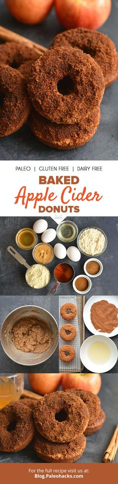 You need to try these Paleo donuts coated in cinnamon and coconut sugar Get the full recipe here: http://paleo.co/applciderdonuts