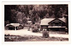 BC – SPUZZUM, Alexandra Lodge Along the Cariboo Highway c.1924-1949 RPPC