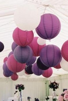 amanda these colors for your wedding but the white would be a cream instead...so cream, wine, a purple, and black like??