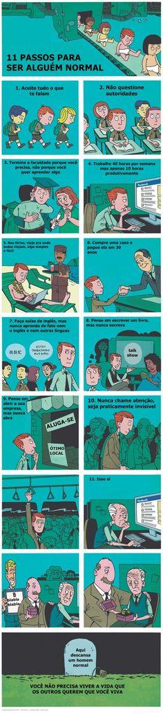 """11 passos para ser uma """"pessoa normal"""""""