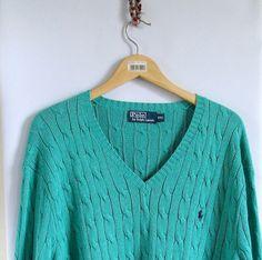 90s Cable Knit Ralph Lauren Polo Sweater Men's Size by artwardrobe, $40.00