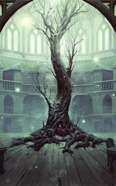 '' Neverland's Library '' - Digital Art by Gabriel Verdon