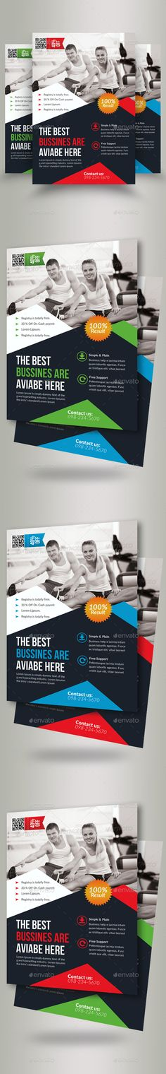 Flyer Top Gym - Elodie Bru gym Pinterest Gym - Gym Brochure Templates