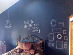 Bedroom chalkboard wall