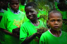 Students carry pine tree seedlings along a forest road to the field where they will be planted. To commemorate June 5th International Environment Day hundreds of students took part in a day of activities including the planting of several hundred trees in one of Haiti's last forests. Located nearly four hours drive from Port au Prince,  The trees are being felled to make farmland and also charcoal for fuel and for sale.  Photo: Logan Abassi (UN/MINUSTAH)