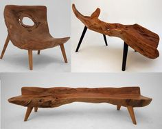 Furniture created from reclaimed and recycled wood by Istanbul based Gursan Ergil Design Studio