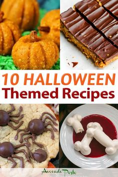 We're switching things up a bit here. Instead of the usual Friday Foodie Faves where I share my 10 favorite recipe finds from fellow food bloggers, now I'm switched over to themed posts. Happy Halloween to everyone! | @avocadopesto #halloweenthemedrecipes #halloweenrecipes #diyhalloweenparty #halloweenparty #halloweentreats #funhalloweenrecipes Sugar Free Desserts, Gluten Free Desserts, Vegan Desserts, Dessert Recipes, Halloween Themed Food, Halloween Treats, Happy Halloween, Types Of Desserts, Quick Dinner Recipes